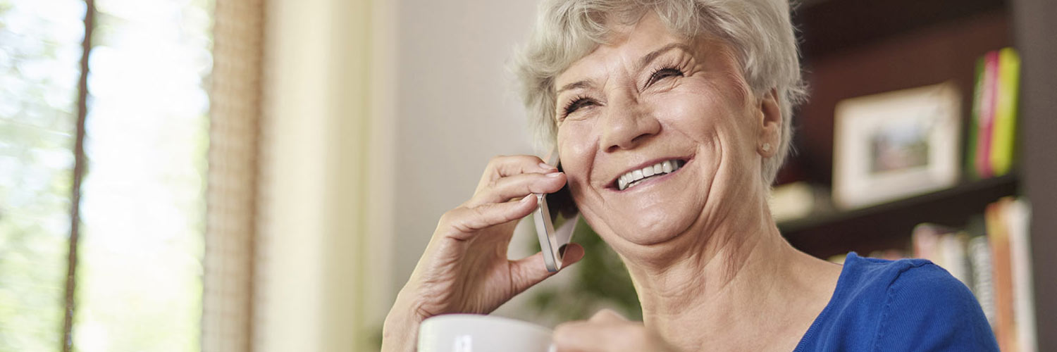 Mature lady on the telephone